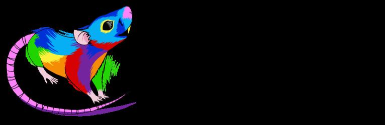 Rainbow Rat Art Logo